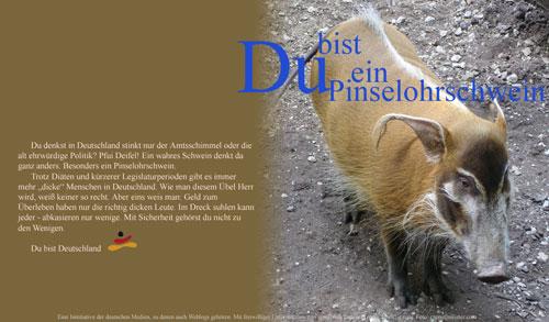 Du bist ein Pinselohrschwein