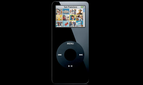 iPod nano in schwarz