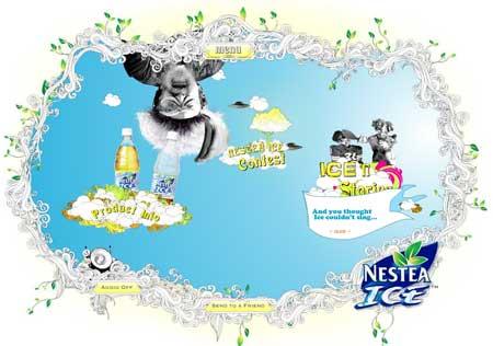 Nestea Ice Homepage