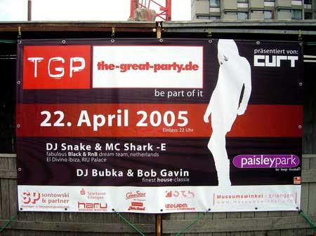 The Great Party - Bauzaun an der Nürnberger- Ecke Bauhofstraße