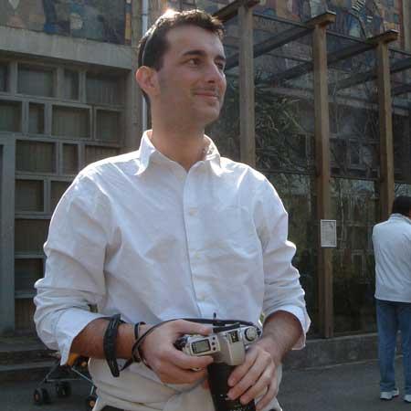 Andy beim fotografieren der Totenkopfäffchen